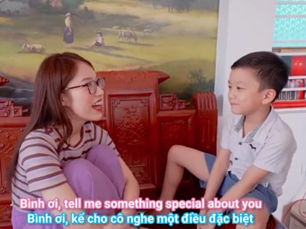 Cậu bé 'Siêu trí tuệ' Quang Bình khiến dân mạng thán phục bởi khả năng nói Tiếng Anh cực đỉnh