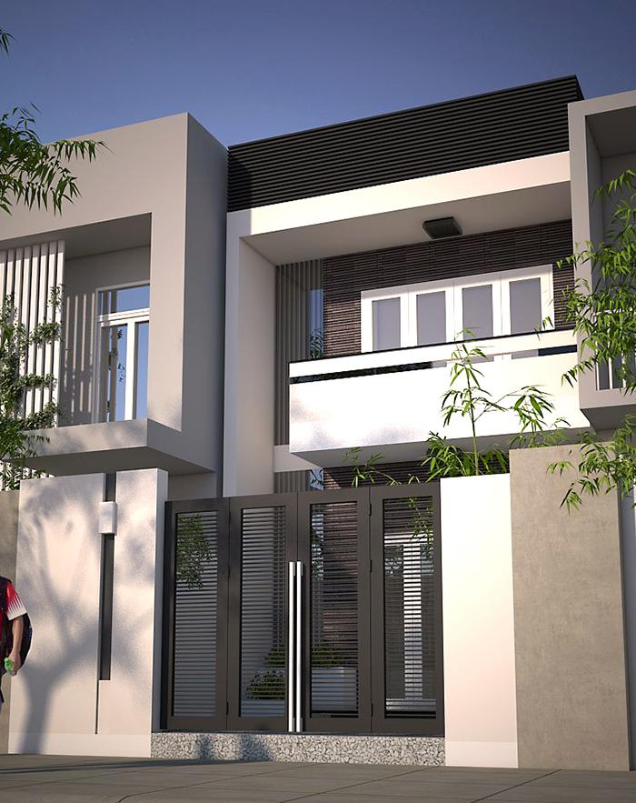 Kiến trúc ngôi nhà được thiết kế theo phong cách hiện đại, có nét thẩm mỹ và khá thu hút