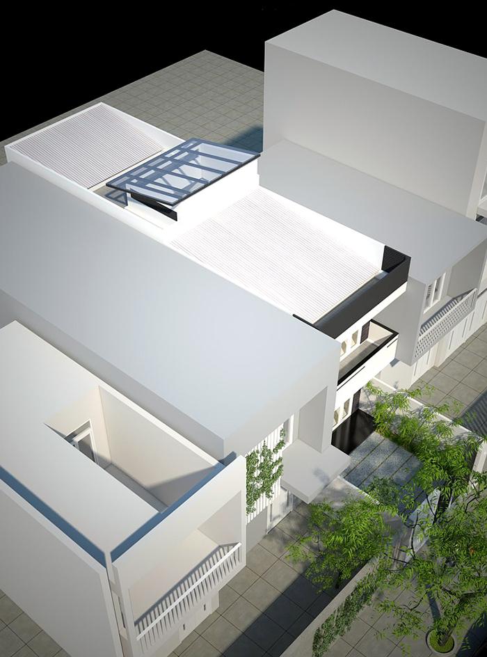 Hệ thống mái theo thiết kế dạng mái tôn, có độ dốc hợp lí