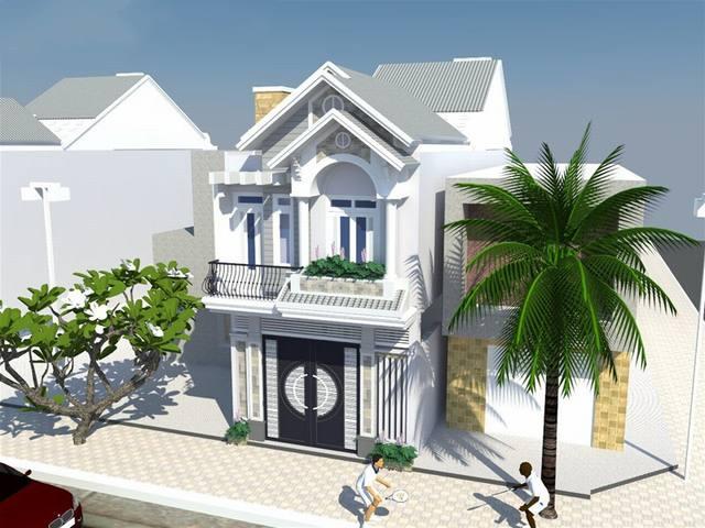 Mẫu thiết kế nhà phố có kiến trúc hiện đại, trẻ trung