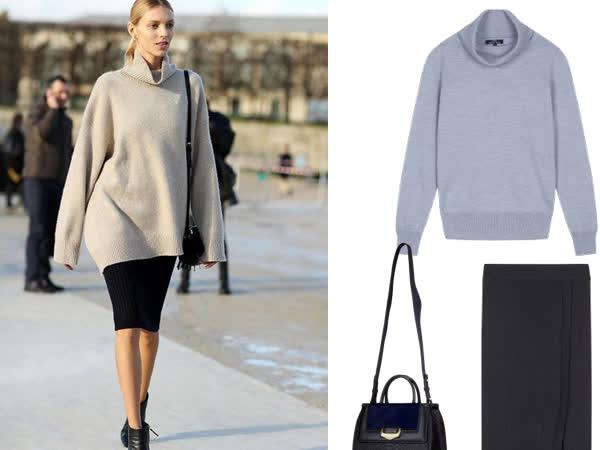 Cách mix áo len với chân váy dài cực đẹp, sang trọng và sành điệu