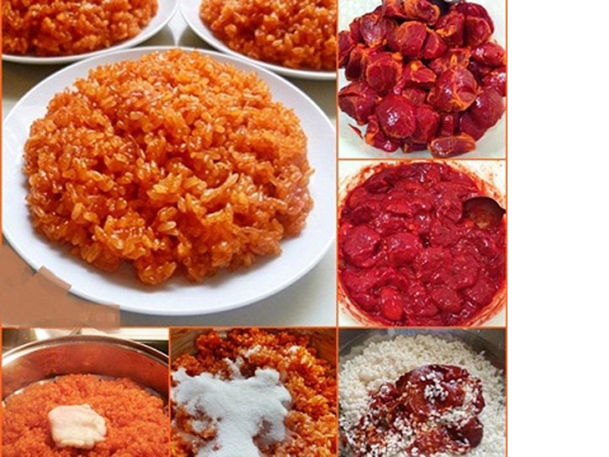 Cách nấu xôi gấc bằng nồi cơm điện ngon, cực thơm, béo ngậy mà rất đơn giản