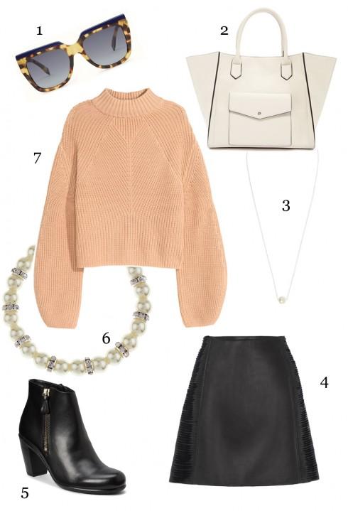 8.Kết hợp áo len, chân váy và phụ kiện sẽ giúp set đồ bắt mắt và phong cách hơn rất nhiều