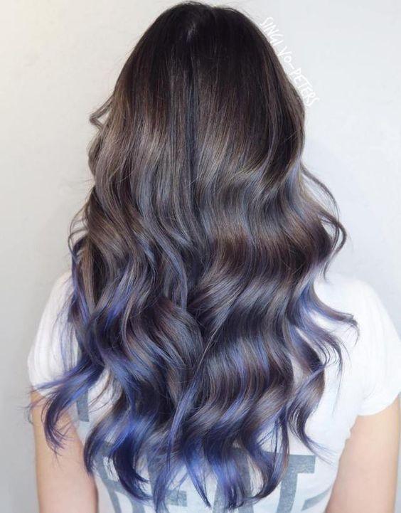 Nhuộm tóc ombre màu bạc