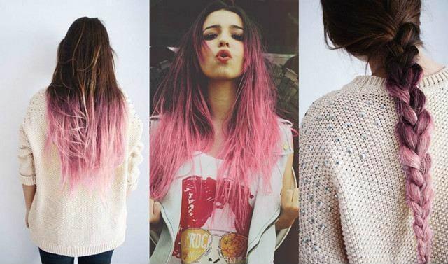 Tóc nhuộm ombre màu hồng trẻ trung, năng động