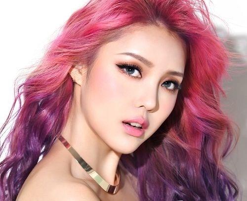 Màu ombre tím hồng phong cách và thu hút ánh nhìn