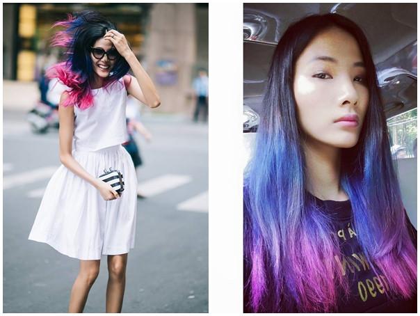 Xu hướng tóc nhuộm ombre giúp tạo phong cách hoàn toàn mới mẻ, tươi tắn, trẻ trung, có chứa một chút nổi loạn mà vẫn rất hiện đại văn minh