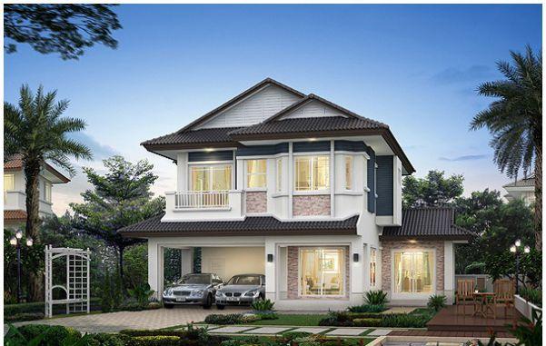 Mẫu nhà mái Thái thu hút với vẻ đẹp khang trang, hiện đại