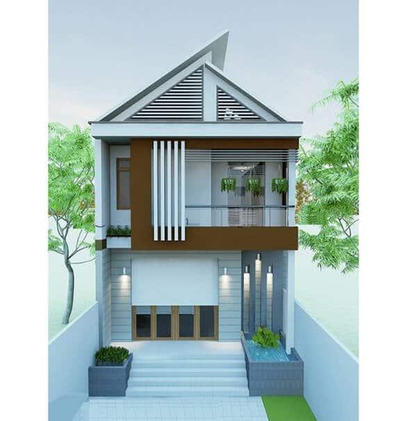 Thiết kế mái Thái giúp căn nhà trông cao hơn