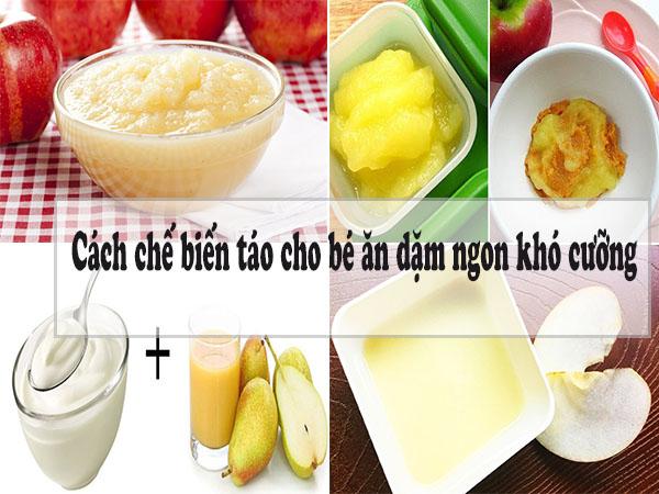 Gợi ý những cách chế biến táo cho bé ăn dặm ngon khó cưỡng
