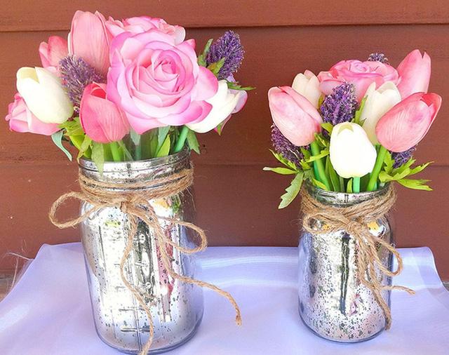 Ý tưởng cắm hoa bằng lọ thủy tinh đẹp