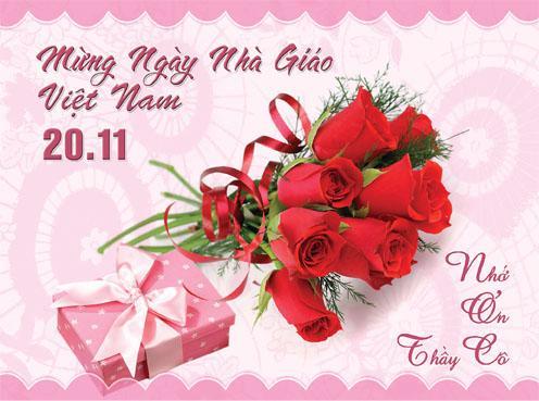 Trong ngày 20/11, các em học sinh thường tặng hoa và biếu quà để tri ân các thầy cô giáo