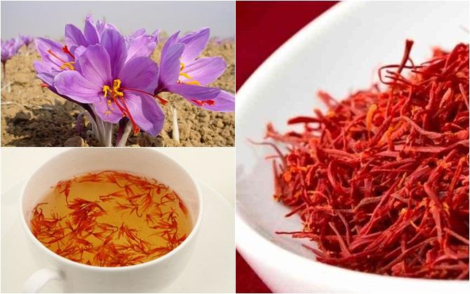 Chỉ cần dùng từ hai đến ba sợi nhụy hoa Nghệ tây pha trà dùng là đã có thể giúp tâm trạng sảng khoái cả ngày