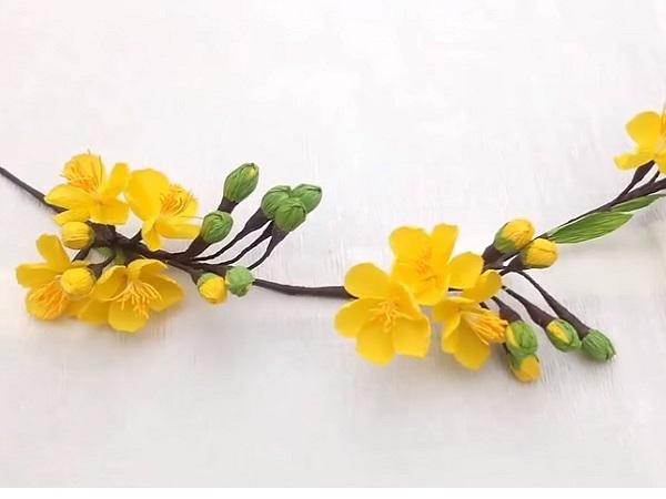 Hướng dẫn cách làm hoa mai handmade tuyệt đẹp tại nhà, đơn giản dễ làm