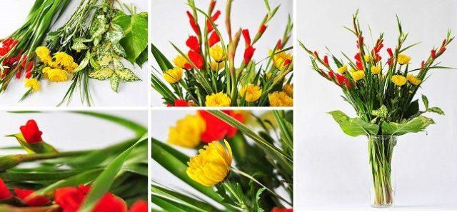 Hướng dẫn cắm hoa cúc để bàn thờ đẹp