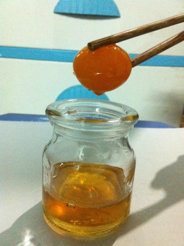Trứng gà mật ong dùng để ăn trực tiếp