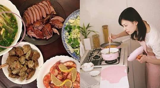 Chuẩn bị cho chồng một bữa ăn ngon