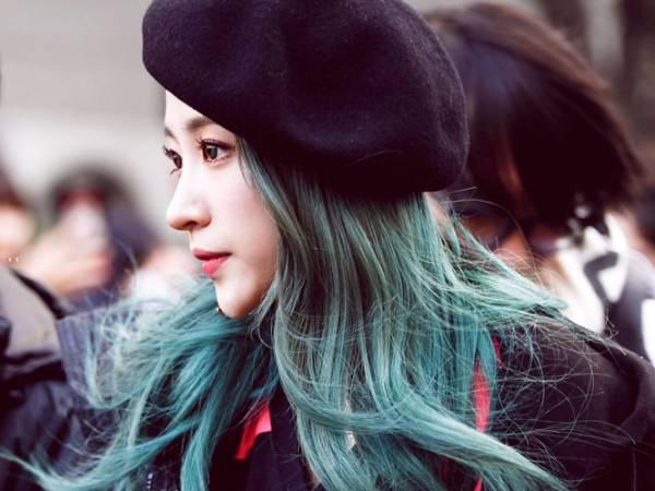 Tổng hợp các kiểu nhuộm tóc màu xanh rêu theo xu hướng 2018 đẹp nhất cho nữ - Ảnh 4