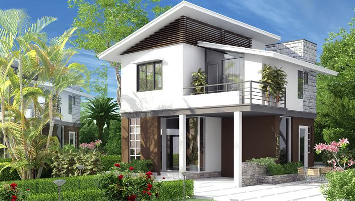 Thiết kế nhà 2 tầng mái thái phong cách cổ điển
