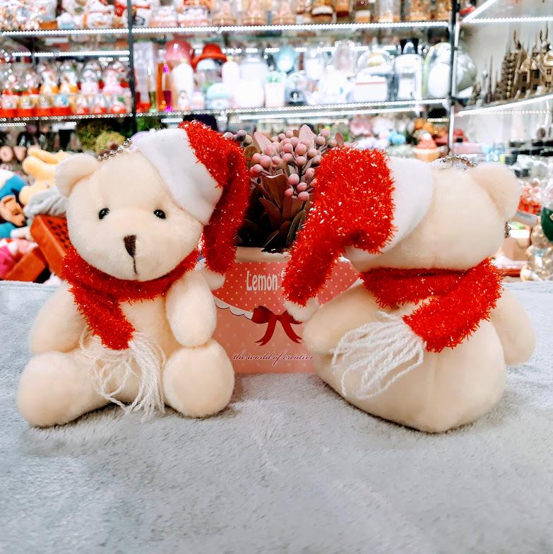 Gấu bông trang trí Noel