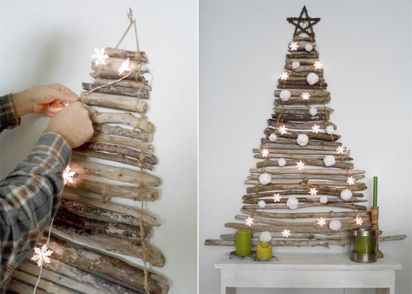 Khi trang trí, nên chọn chất liệu làm cây thông đơn giản, dễ gắn lên tường