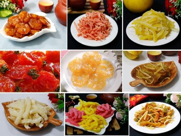 Các loại mứt Tết thơm ngon trong ngày Tết cổ truyền Việt Nam