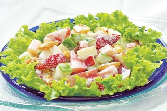 Cach lam salad rau cu 4