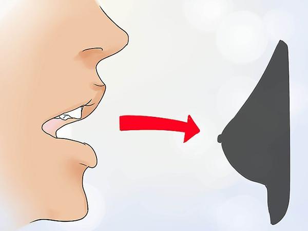 Núm vú tụt nhẹ có thể dùng miệng để kích thích