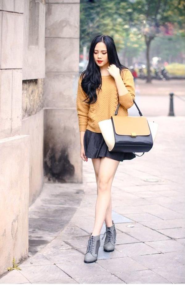 Chân váy ngắn phù hợp với nhiều dáng người