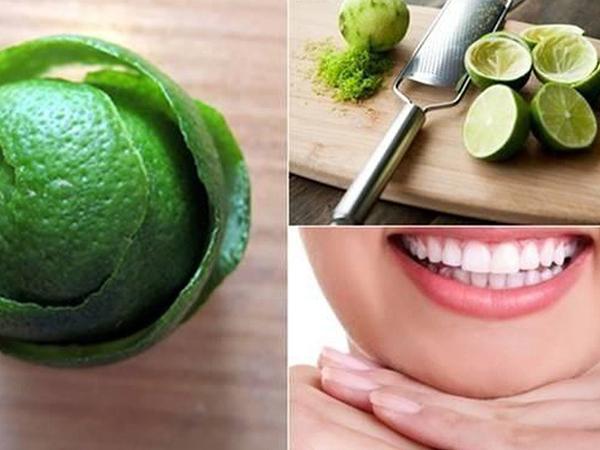 Vỏ chanh và muối có công dụng trị chân răng đen hiệu quả