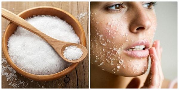 Muối biển có tác dụng trị mụn hiệu quả cho da nhờn