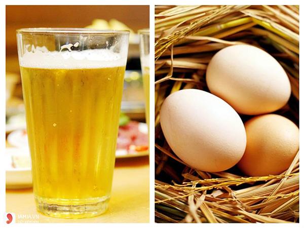 Trứng gà và bia là hỗn hợp dưỡng tóc hiệu quả
