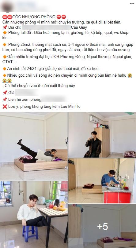 Nam thần Lee Min Ho phải 'khóc thét' vì trở thành gương mặt quảng cáo bất đắc dĩ lại còn miễn phí của cô gái nhượng phòng trọ - Ảnh 1