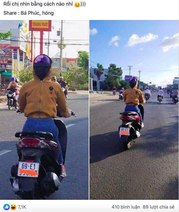Người phụ nữ đi xe máy bịt kín như Ninja, nhưng chiếc áo mặc ngược cùng chiếc mũ bảo hiểm kì lạ mới khiến người đi đường choáng - Ảnh 1