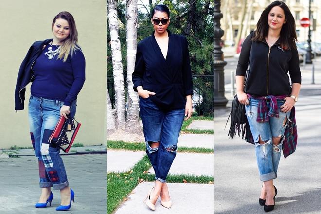 Gợi ý những cách mặc đẹp với quần baggy jean cho người béo