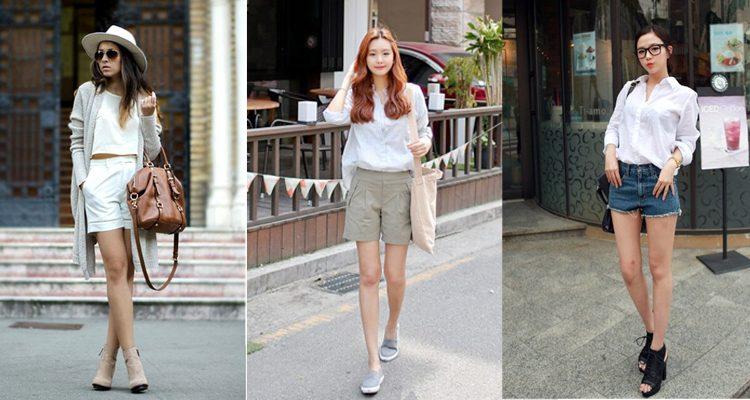 Muốn tạo phong cách riêng thì quần short nữ kết hợp với áo gì?