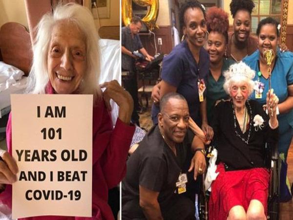 """Bà cụ """"siêu nhân"""" 101 tuổi đánh bại COVID-19, chiến thắng cả bệnh ung thư và sống sót qua dịch cúm Tây Ban Nha"""