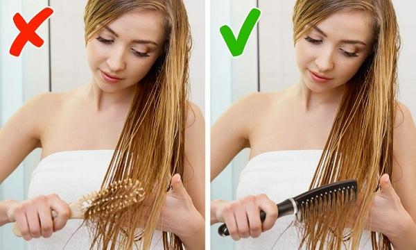 7 lỗi chải đầu khiến tóc nhanh hư tổn - Ảnh 5