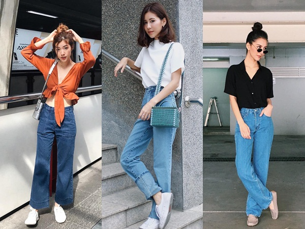 """19 chiêu mix&match chất lừ với quần jeans ống rộng, cứ mặc lên là cao thêm cả """"chục phân"""" chứ chẳng ít"""