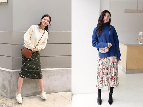 3 công thức mix chân váy dài - món đồ 'đỉnh' mùa đông của gái Hàn