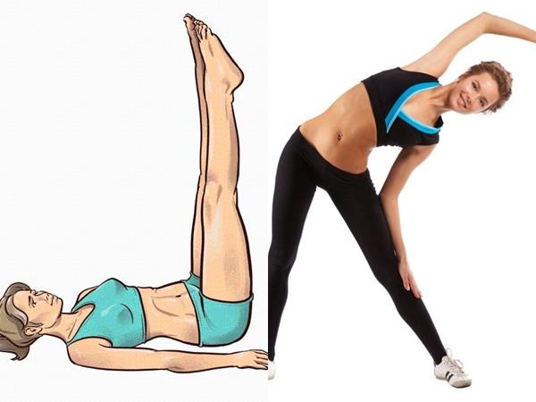 4 động tác giúp đánh tan mỡ bụng sau khi ăn Tết