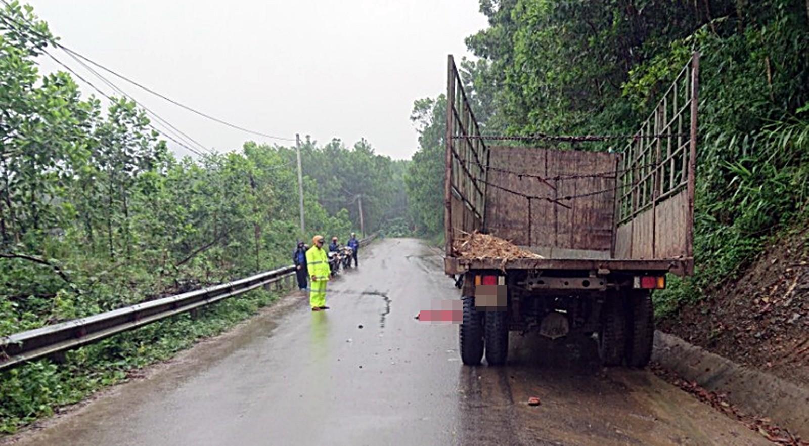 Quảng Nam: Xe máy đấu đầu xe tải, nam thanh niên tử vong thương tâm - Ảnh 1