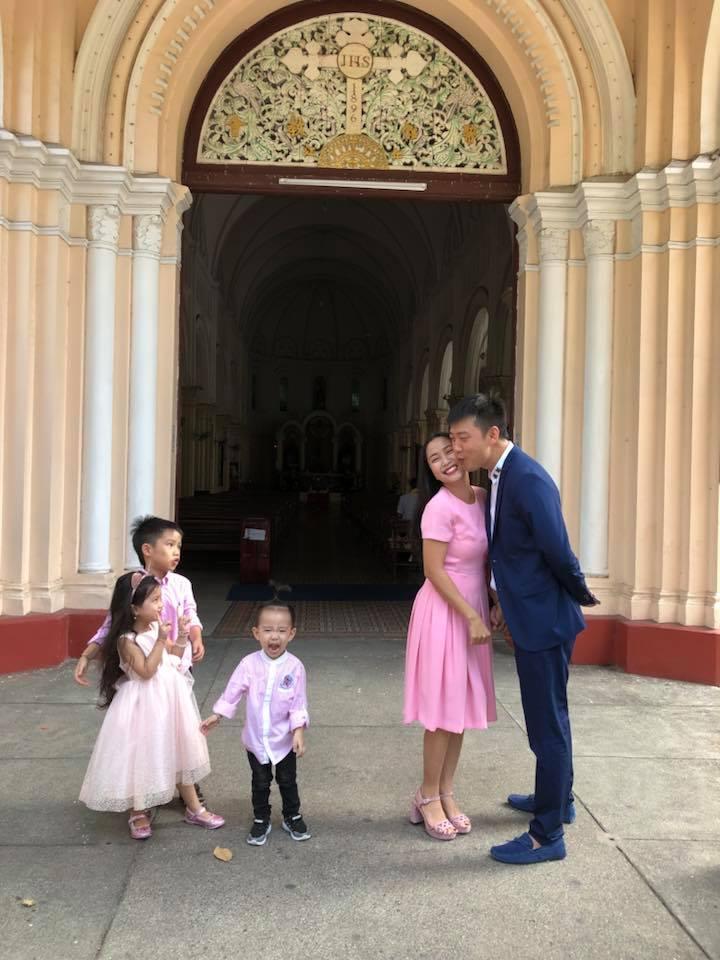 Ốc Thanh Vân bồi hồi nhớ lại khoảnh khắc 9 năm trước cùng chồng sánh bước tại nhà thờ - Ảnh 3