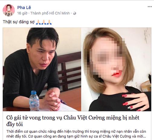 Lâm Chấn Khang và sao Việt nói gì khi Châu Việt Cường liên quan đến cái chết của cô gái trẻ? - Ảnh 8