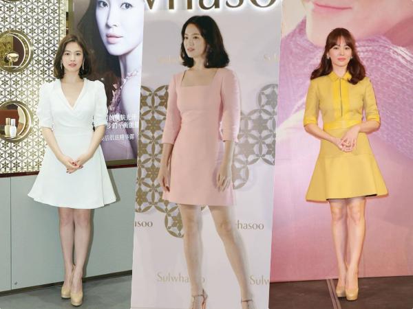 Học Song Hye Kyo 3 'bí kíp' chọn váy này, cô nàng 'nấm lùn' trông cao lên cả chục centimet, vóc dáng lại thon gọn bất ngờ
