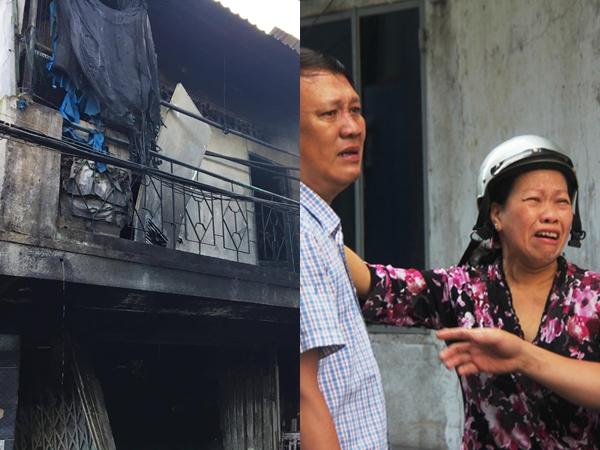 Người thân khóc ngất trước hiện trường vụ cháy khiến 3 mẹ con tử vong: 'Em ơi, cháu ơi sao không về với cô'