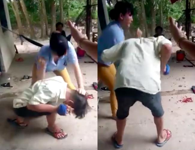 Clip: Ghen tuông, vợ 'hổ báo' đánh đấm chồng dã man trước mặt nhiều người