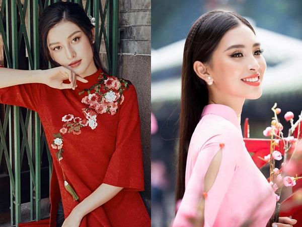 Lung linh trong tà áo dài với cách trang điểm học hỏi từ sao Việt
