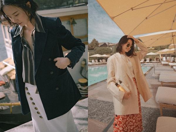 Nếu trời chỉ se lạnh, bạn hãy nghĩ đến công thức mix áo thun/sơ mi + blazer dễ mặc và chắc chắn sẽ đẹp này