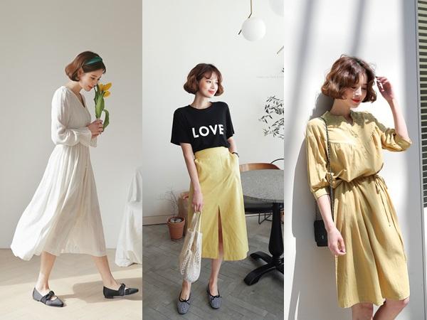 Những chiếc váy vải thô đũi xinh xẻo này sẽ là món đồ cực hợp diện cuối tuần
